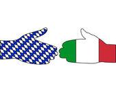 International handshake — Stock Vector