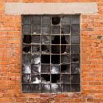 Brick wall , broken window — Stock Photo #81110278
