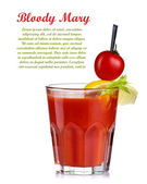 Bloody mary cocktail isolated on white background. Top garnished — Stock Photo