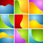 Wavy backgrounds set — Stock Vector