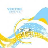 Minimal wavy bright background — Stock Vector