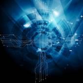 Dark blue tech abstract background — Stock Vector