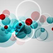 Bright geometric circles — Stock Vector