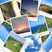Polaroid photos abstract background — Stock Vector