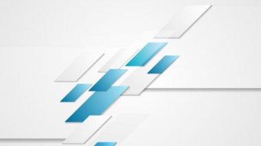 Абстрактные тек геометрическое корпоративных движение — Стоковое видео