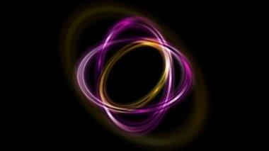Bright ellipse shape logo rotation — Stock Video