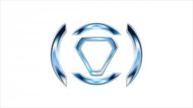 Modern bright tech logo animation — Stock Video