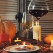 Autumn place setting. Thanksgiving dinner — Stockfoto