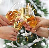 Christmas or New Year celebration — Stock Photo