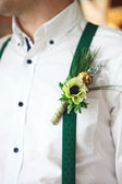 Groom wearing buttonhole — Stock Photo