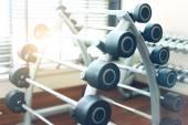 Weight training equipment — Stock Photo