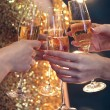 Celebration. People holding glasses of champagne making a toast — Stock Photo #67642267