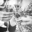 Celebration. People holding glasses of champagne making a toast — Stock Photo #70652827