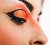 Eye make up. close up — Stock Photo