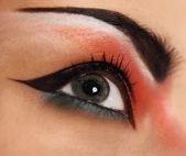 Eye make up. Beautiful eyes glitter make up — Stock Photo