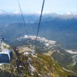 Cable cars going to the ski resort in  Sochi — Stock Photo #76680129