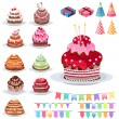 Set with different cakes — Stock Vector #54591417
