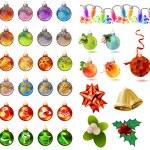 Different christmas glass balls on white — Stock Vector #55355151