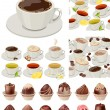Ig realistic set with cups of tea and coffee — Stock Vector #57654067