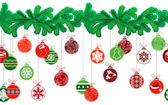 Seamless festive Christmas garland with fir and  balls — Vecteur