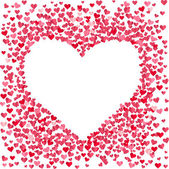 Stylized background made of hearts — Stock Vector
