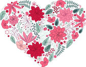 Heart made of flowers. — Stock Vector