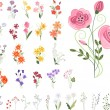 Collection of different stylized flowers — Stock Vector #68217645