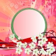 Background with blossoming branch of tree — Stock Vector #68983407