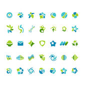 Different abstract trendy symbols — Stock Vector