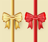Golden and red ribbons  — Stock Vector