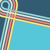 Retro blue backround stripes — Stockvector