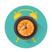 Alarm icon in retro style — Vector de stock