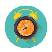 Alarm icon in retro style — Stock Vector