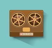 Retro reel-to-reel recorder  — Vetor de Stock