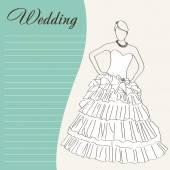Retro abstract wedding background — 图库矢量图片