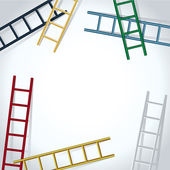 Background with ladders — Stock Vector