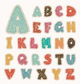 Çizim alfabesi — Stok Vektör