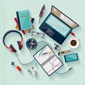Concept de lieu de travail. — Vecteur