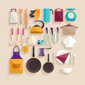 Kitchen tool collection — Stock Vector