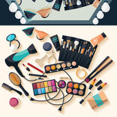 Workspace for makeup. — Stock Vector