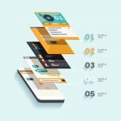 Design interface. Flat design. — Stock vektor