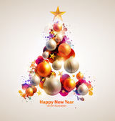 Abstract christmas tree. — Stock Vector