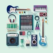 Musical equipment — Stock Vector