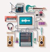 Music creation — Stock Vector