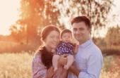 Happy family outdoor — Stock Photo