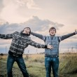 Two happy teenagers outdoor — Stock Photo #53429821