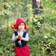 Little Red Riding Hood in the woods — Stock Photo #72323973