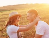 Young happy couple outdoor — Stock Photo