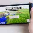 Постер, плакат: Minecraft computer game on smartphone