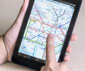 London Underground diagram on the tablet — Stock Photo